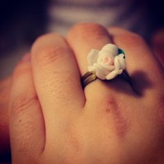 Handmade Flower Ring via WishStrings. Click on the image to see more!