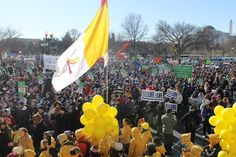 Masses of anti-abortion activists descended upon Washington, D.C., for the March For Life Wednesday.