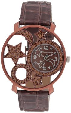 Mashreqworld : De Cambridge Unisex Dress Watch Brown Leather Strap price, review and buy in UAE, Dubai, Abu Dhabi | Souq.com