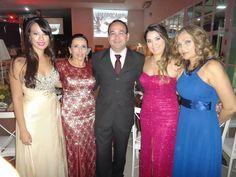 Formatura das minhas filhas, Renata, Nazaré, Ajax, Nicole e Anna