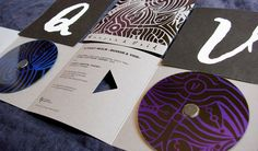 """Design for """"A Foggy Realm"""" limited edition CD silk printing."""
