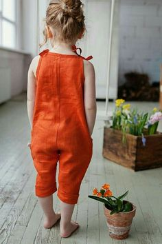 Summer girls outfit orange linen jumpsuit vintage jumpsuit girl clothes kids romper baby shower gift idea summer overall Baby Girl Dresses baby clothes gift girl Girls Idea Jumpsuit kids Linen Orange outfit romper shower Summer Vintage Baby Outfits, Outfits Niños, Girls Summer Outfits, Little Girl Dresses, Kids Outfits, Summer Girls, Summer Baby, Summer Wear, Outfit Summer