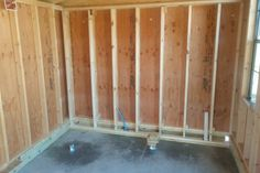 Shed Cabin, Diy Cabin, Cheap Storage Sheds, Shed Storage, Insulating A Shed, Framing Construction, Building A Cabin, Simple Shed, Small Sheds