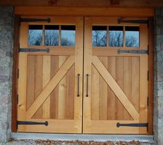 Carriage Doors For Barn | Garage Carriage Doors - - garage doors - new york - & reclaimed wood railings | Carriage style doors are custom made of ...