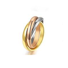 Brand Titanium Steel Three Layers Carter Love Rings for Women Men Wedding Ring Bands Logo Aneis Anillos Bague Femme bijoux femme #Affiliate