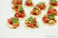 Tuna Tartare Bites - easy appetizer recipe for the Holidays..and FANCY! #recklessabandon