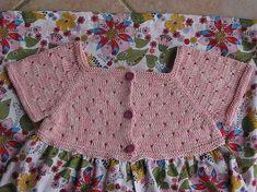 Rav elry: robe d'été en tricot et liberty pattern by Sandrine Bianco Crochet Yoke, Crochet Baby, Sewing Patterns For Kids, Knitting Patterns Free, Knitting For Kids, Baby Knitting, Toddler Dress, Baby Dress, Summer Dress