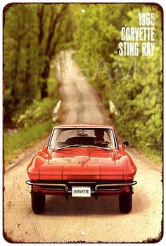 1965 Corvette Sting Ray Vintage Look Reproduction 8x12 Metal Sign 8121120