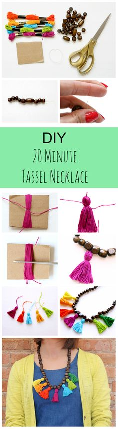 This Anthropologie necklace hack takes less than 20 minutes to complete! Not only is it quick, but it's perfect for those who have never made jewelry before!