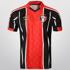 Camisa Umbro Joinville I 2015 s/nº - Preto+Vermelho