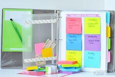 Cómo utilizar la papelería para organizarse en el día a día #ideas #agenda…