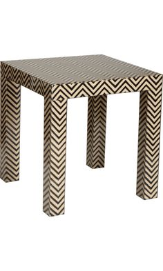 Love this chevron parsons table by Madeline Weinrib.  Gotta be a way to DIY with an Ikea Lack table.