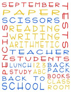 Free Printable Subway Art with a Back to School theme. from whilehewasnapping.blogspot.com