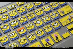 Macbook air keyboard decal - MINIONS!!!!