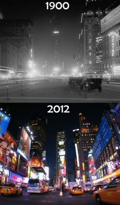 New York Times Square - 112 years apart- what New York City looked like in the book compared to today