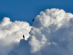 "aguidetolivingwell: "" Climbing the clouds. """