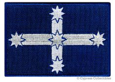 AUSTRALIA EUREKA FLAG Democracy Patch iron-on embroidered applique Aussie Protest Emblem