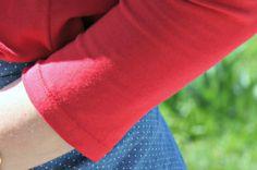 Astuce couture : de jolis ourlets sur les t-shirts en jersey Vous ne raterez jamais vos ourlets de t-shirts! You can't miss t-shirts hemming !