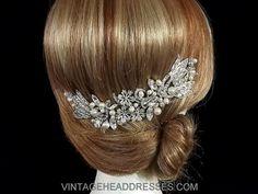 Vintage Hair Vine - 1920's Art Deco Foral Bridal Hair Vine - Wedding Hair Accessory - Bridal Accessories
