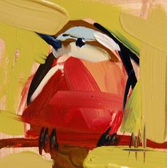 Nuthatch no. 30 original bird oil painting by Angela Moulton 4