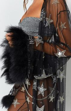 Festival Outfit Star Field Coat Black and Silver Star Field Coat Black and Silver Festival Looks, Rave Festival, Festival Wear, Festival Fashion, Rave Outfits, Edgy Outfits, Fashion Outfits, Coachella Outfit Ideas, Techno Club