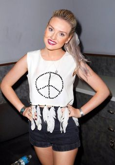 Perrie. :) i want that shirt!!! bucket list, that may seem weird but i want that shirt before i die. maybe not that one specifically but the same one in my size :P