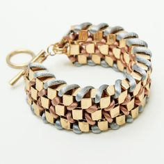 braided chain bracelet via style by marina.