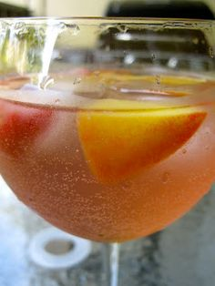 Art For All: Delicious Drink: Strawberry-Peach Sangria