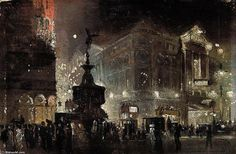 Piccadilly Circus - (2) de George Hyde Pownall (1876-1932)