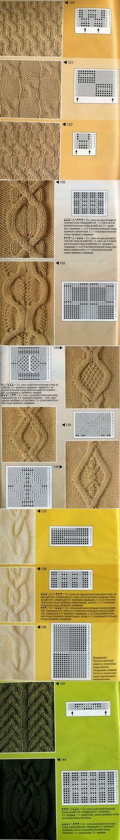 Узоры с косами схемы из журналов по вязанию | vjazem.ru