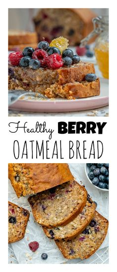This healthy blueberry oatmeal bread is my new favorite breakfast… and dessert… oh yeah, snack too! Plus, it's vegetarian, so I'm sure it will be your new favorite too!