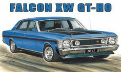 Ford Falcon XW GT-HO sign #giftsformen #noveltysigns #carsigns