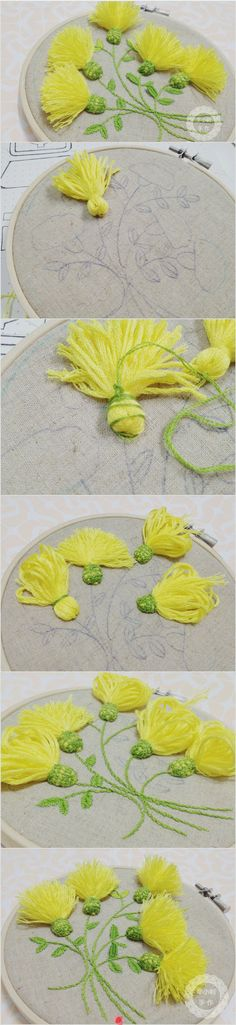 Flower tassel- change the color to purple and they suddenly become very…