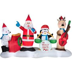 6' Jazz Band Airblown Inflatable Christmas Prop