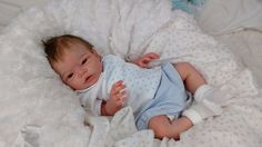 This adorable and incredibly realistic newborn baby boy 'Liam' was lovingly reborn from the highly detailed full body solid silicone doll kit by the very talented Elena Westbrook. Life Like Baby Dolls, Life Like Babies, Real Baby Dolls, Realistic Baby Dolls, Silicone Babies For Sale, Silicone Reborn Babies, Silicone Baby Dolls, Boy Baby Doll, Reborn Baby Boy Dolls