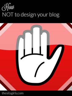How NOT to design your blog. Avoid making these mistakes in your blog design.