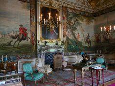 Blenheim Palace Second State Room. Woodstock, Oxfordshire, England, UK