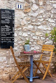 Cassis A restaurant in the village