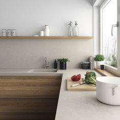 #Encimera de #cocina #moderna de #Inalco, #Pacific #iTOPKer, sus altas prestaciones y sus características técnicas la hacen apta para cualquier espacio.