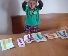 Love this game to get your two year old to spell her name before she turns three via instructables