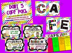 Ginger-Snaps Shop - | Teachers Notebook - FREE CAFE and Daily 5 Pack