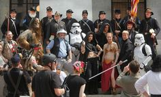 Civil War muster cermony ... with Chewbacca - 04/11/2011