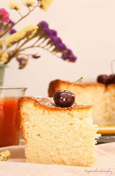 tarta de queso esponjosa Cherry Recipes, Cookie Pie, Chicken Alfredo, Bakery Cakes, Macaroons, Flan, Cakes And More, Coffee Cake, Stevia