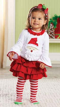 Mud Pie Christmas Santa Tab Skirt Set- wish I'd found this sooner. Next year for sure tho!!!