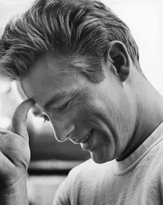 James Dean photographed on the set of Rebel Without A Cause at Griffith Park Observatory, 1955.