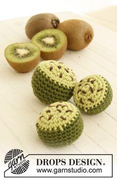 """Crochet DROPS kiwi in """"Paris"""". ~ DROPS Design"""
