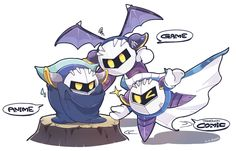 Comic Meta Knight: IM FABULOUS  Game Meta Knight: Are you high?? Anime Meta Knight: *le Mexican accent* ....i can't even..