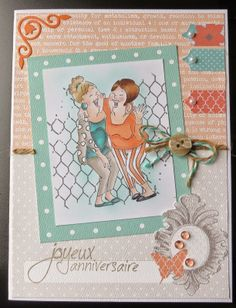 Laughing Set (Sku#4385) Art Impressions Ai Girlfriends card.