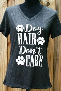 "We have the perfect trendy graphic top for dog lovers just like us here at Cali Boutique! Our """"Dog Hair Don't Care"""" graphic top is perfect to display your love for your furry ones! This trendy bouti"