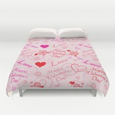 Happy Valentine's Day Duvet Cover by refreshdesign !